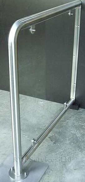 Automatic Door Stainless Steel Barrier With Glass Panel (Floor to Wall) & Automatic Door Stainless Steel Barrier With Glass Panel Floor to Wall Pezcame.Com